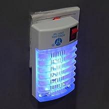 LED Mosquito Trampa Lámpara Luz de Reflector Insecto Zapper Eléctrico Enchufe UE