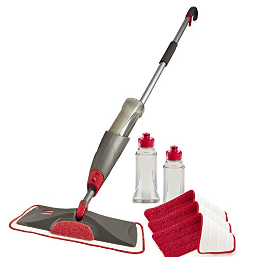 Rubbermaid Reveal Spray Mop Floor Cleaning Kit, Bundles: 1 Mop, 3 Multi Surface Microfiber Wet...