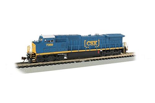 Bachmann Trains GE Dash 8-40CW DCC Sound Value Econami Equipped Locomotive - CSX - Htm #7369 - N Scale, Prototypical Blue (67353)