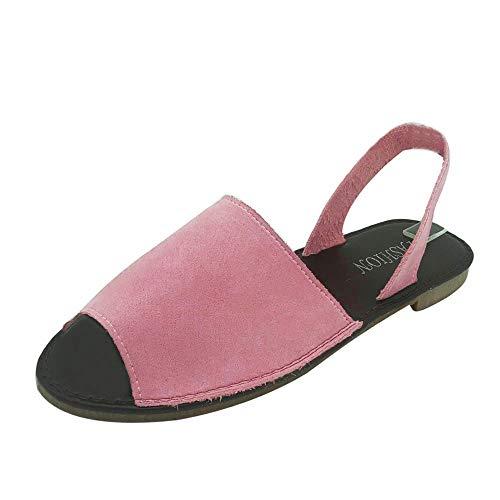 Sandales Femmes Plates,LANSKIRT Chaussures d'Été Sandales à Poisson pour Femmes Sandales à Fond Souple Sandales Bride Cheville Fille