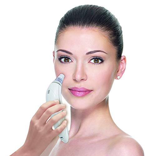 Derma Suction Vakuum Hautreiniger | 2 Stück | Gesichts-Reinigung | Poren-Reiniger | Poren-Sauger | Mitesser-Entferner | inkl. 4 Reinigungsaufsätze | Das Original aus dem TV