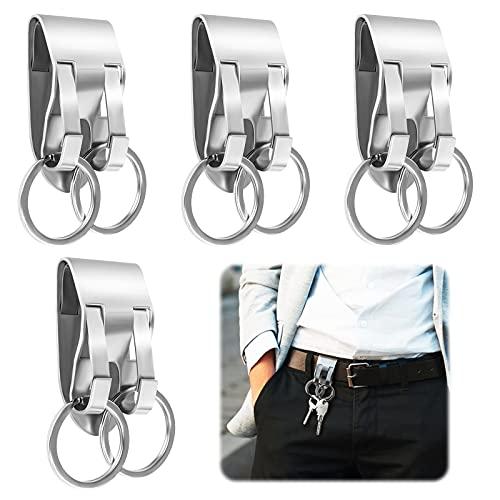 Soporte para cinturón de doble anillo 4 piezas Clip de...