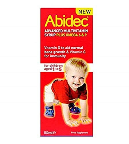 Abidec Multivitamin Syrup With Omega 3 - 150ml ( Flavor may vary -- Raspberry Flavor Or Lemon Flavour )