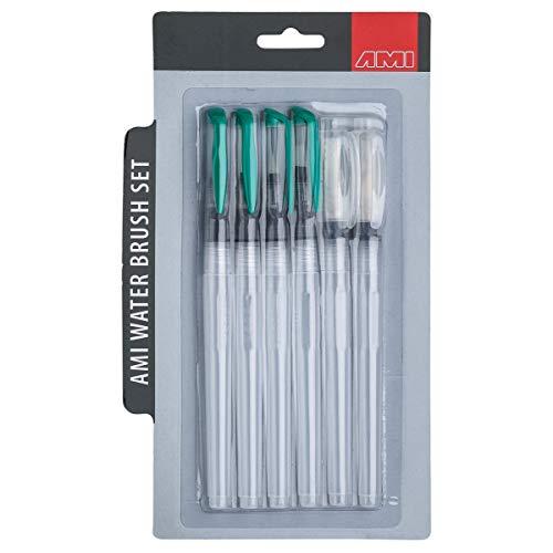 Artservice Water Brush Pen Lot de 6 pinceaux à eau avec réservoir