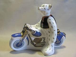 Royal Crown Derby - Teddy Bear Biker