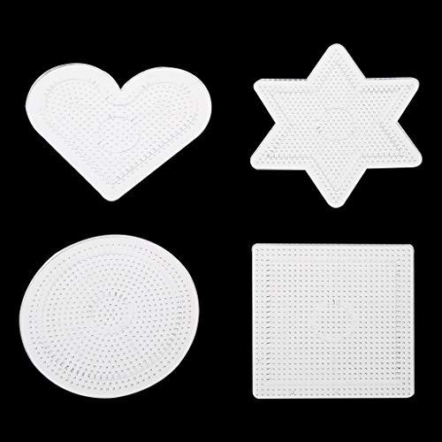 ZJL220 DIY Forma Transparente Plantilla de Rompecabezas para 2.6 mm Hama Beads Perler Beads 4pcs