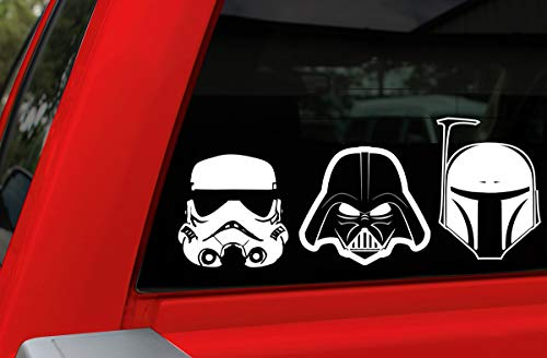 Chroma Graphics 45005 Star Wars Heads Family Decal Kit, 4 Piece
