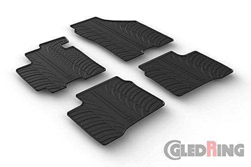 Gledring Set tapis de caoutchouc compatible avec Suzuki Swift IV 5-portes 2017- (T profil 4-pièces)