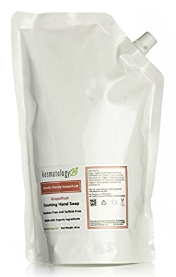 Kosmatology Goody Goody Grapefruit (Grapefruit) Organic Foaming Hand Soap Refill Bag, 34 fl oz