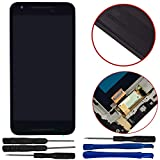 Sunways LCD Display Touch Screen Digitizer Assembly for LG Google Nexus 5X H791 H790 with Frame-Black