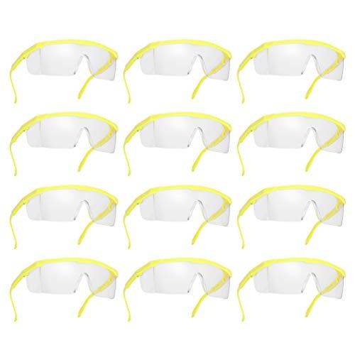 PRETYZOOM 24 Piezas Gafas de Seguridad Gafas Protectoras Gafas Antisalpicaduras Protector de Ojos de Viento Protectores Médicos para Clínica Hospitalaria Esquí Suministros Al Aire Libre Amarillo Negro 🔥
