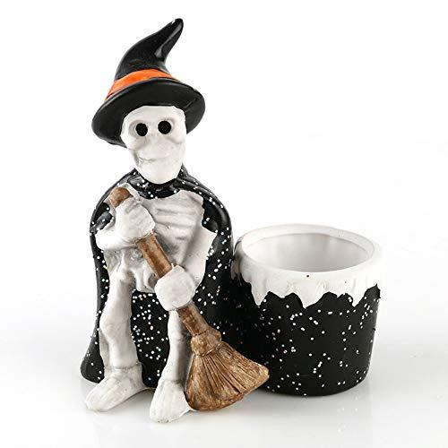 Decoratief object voor thuis hars asbak heks kostuum schedel standbeeld kaarsenhouder creatieve huis woonkamer decoratie hallowmas geschenk
