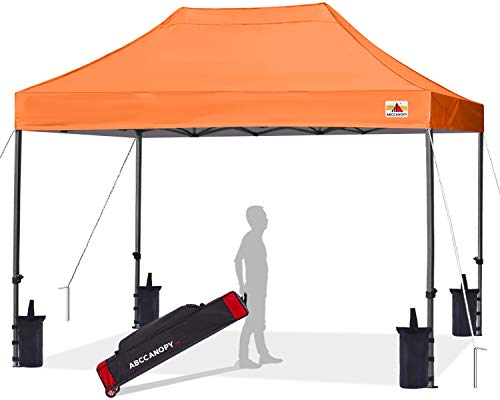 ABCCANOPY Patio Pop Up Canopy Tent 10x15 Commercial-Series (Orange)