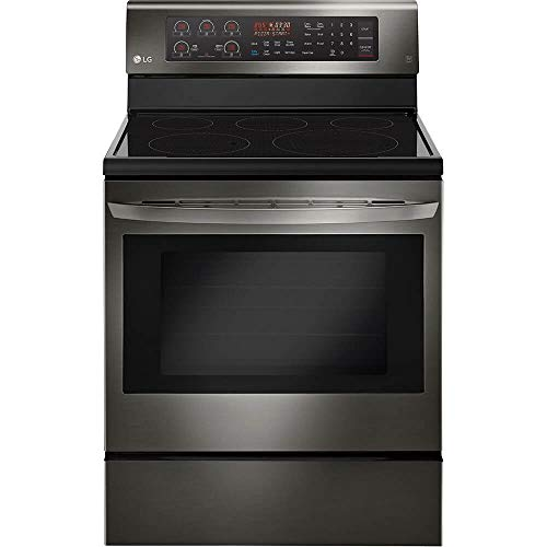 LG LRE3194BD 6.3 Cu. Ft. Black Stainless Freestanding Electric Range