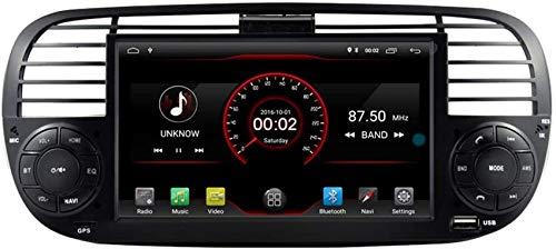 Reproductor de DVD para Coche Unidad Principal estéreo GPS Radio de navegación Multimedia WiFi Compatible con Control del Volante Fiat F500