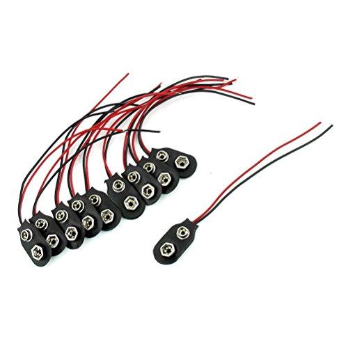 VORCOOL 10I Tipo Snap 9V Batería Clip Conector con Cable (Negro)