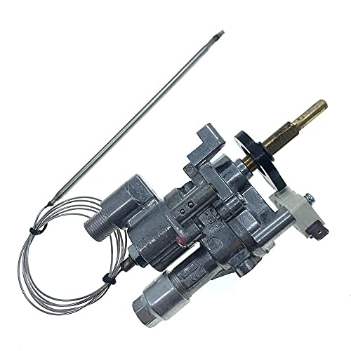 IOUVS 1/2PSI Gas Oven Parts Thermostat Control Gas Valve Regulator With Switch For KDWXA-N25001