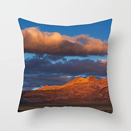N\A Blue High Mountains Bolivia Nature America Parks Chile Climbing Clouds Coast Design Relax Throw Pillow Cover Square Cushion Pillow Case for Bed Sofa