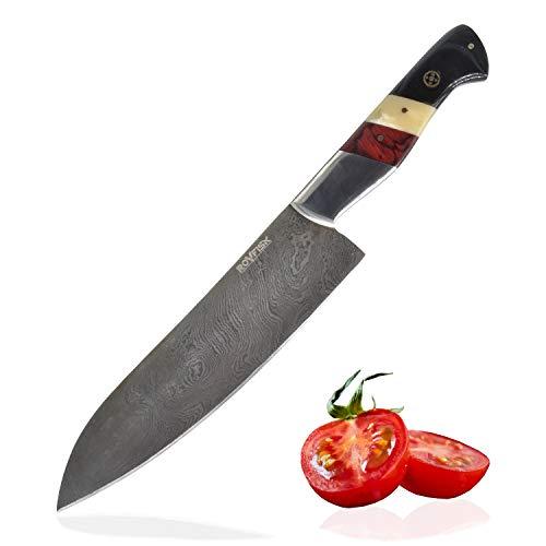 Cuchillo de cocina ROVFISK Cuchillo de cocinero de 34cm de...