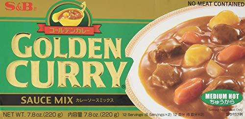 S&B Golden Curry Sauce Mix, Medium Hot, 7.8-Ounce