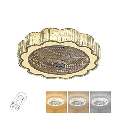 Accesorio de iluminación Luz de techo LED regulable con función de ventilador Control remoto, 40W Tri-Color Luz Cálida blanca / neutra blanca / fresca Lámpara de techo blanco de diseño geométrico Lámp