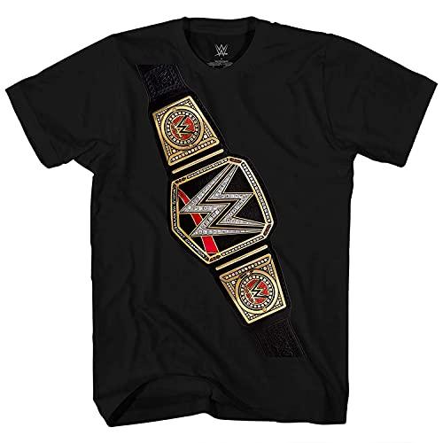 WWE Boys Superstars Group Shirt Superstar Tee - World Wrestling Champion T-Shirt (Black Belt, X-Large)