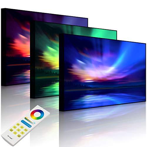 Lightbox Multicolore | Tableau Lumineux LED | Lumières polarisées Nordiques | 80 x 60 cm | Avant Lumineux