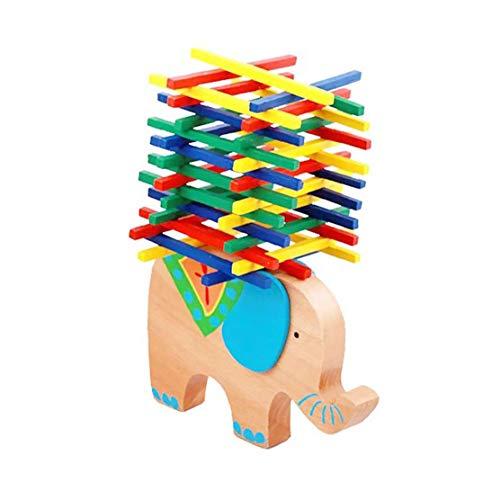 ZYCX123 Elefante Camel Barra de Equilibrio de Madera del Rompecabezas de Bloques de amontonamiento de construcción de Juguete Juego de Mesa Equilibrio de Elefante para niños