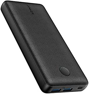Anker Power Bank 20000 mAh, Black - A1363H11 + Free Gift Anker PowerLine Lightning Cable 1ft - A81140