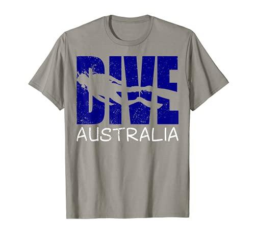 Hombre Buceo Australia Diversión Buceo Aventuras Para Hombres Buzos Camiseta