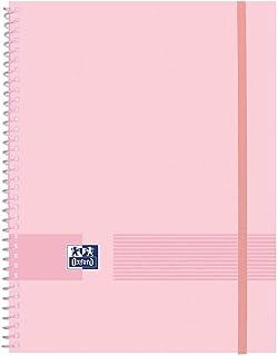 Oxford Live & Go Classeur 40 pochettes Oxford Rose vif, couverture en plastique mat