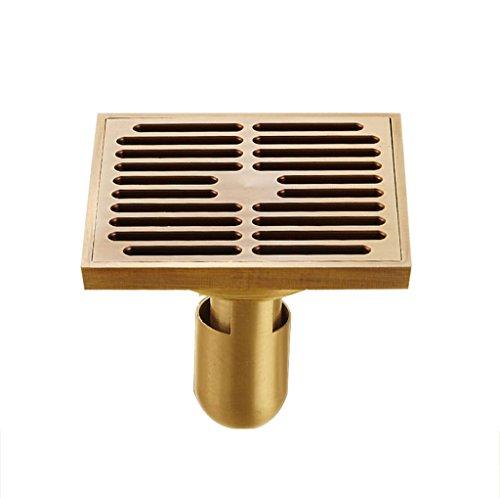 DGF Drain de plancher, drain de plancher de salle de bains de toilette de désodorisant de cuivre 100mm * 100mm (Couleur : A)