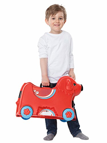 BIG 800055350 – Bobby-Trolley, Kinderkoffer, Kindergepäck, rot - 3
