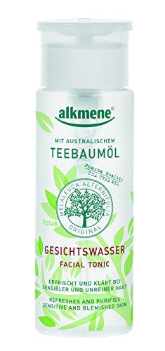 alkmene Teebaumöl Gesichtswasser für unreine Haut - Anti Pickel, Hautunreinheiten & Rötungen - vegane Gesichtsreinigung ohne Silikone, Parabene & Mineralöl im 3er Pack (3x 150 ml)