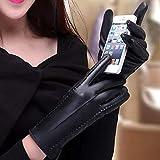 WYHHZ Damen Touchscreen-Handschuhe Winter Pu Lederhandschuhe Outdoor-Sport Treiben Warme Handschuhe...