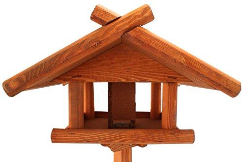 Vogelhaus mit Zinkdach und Ständer 1,55 Meter Vogel Haus - 3