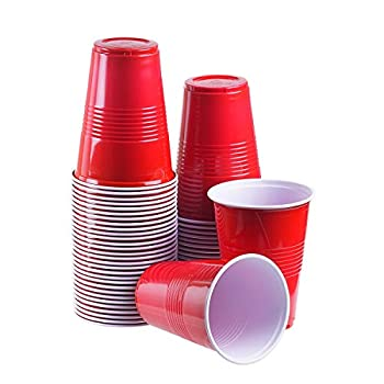12 oz disposable plastic party cups  Red 100