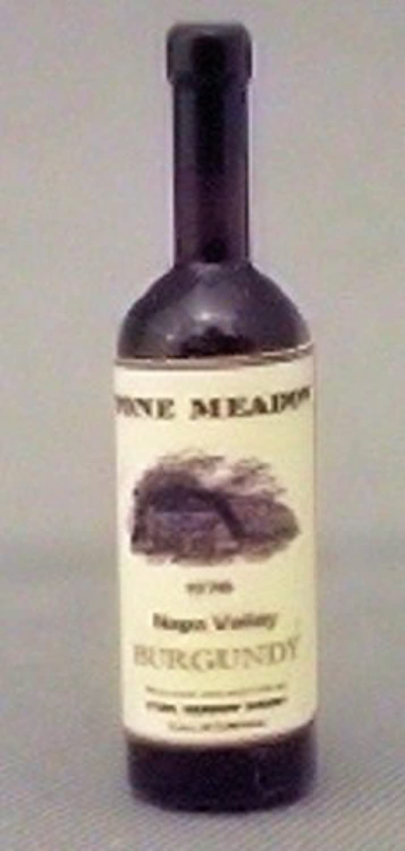 Dollhouse Miniature 1 12 Scale Wine Bottle, Stone Meadow Burgundy by hudson River Miniatures