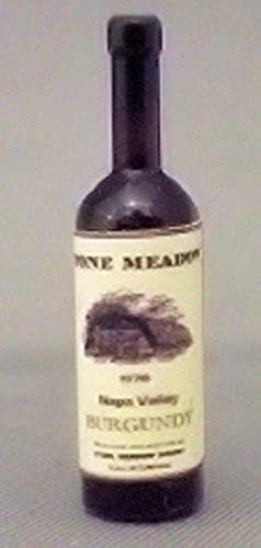 Dollhouse Miniature 1 12 Scale Wine Bottle, Stone Meadow Burgundy by hudson River Miniatures