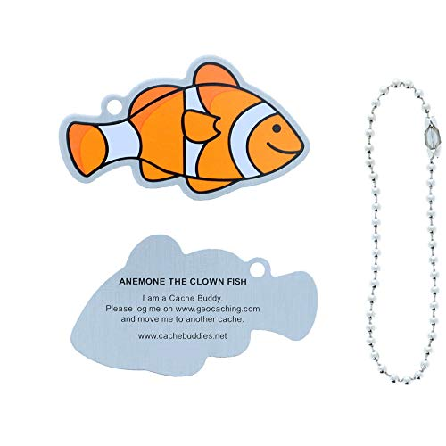 Cachemark Anemone the Clown Fish Geocaching Trackable Travel Tag