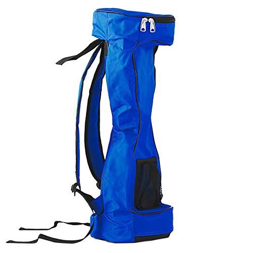 Easycosy 6,5 \'\' wasserdichter Hoverboard-Rucksack mit Zwei Rädern Selbstausgleichendes Smartbag-Board Tragetasche mit verstellbaren Schultergurten Aufbewahrungstasche aus Mesh (Blau)