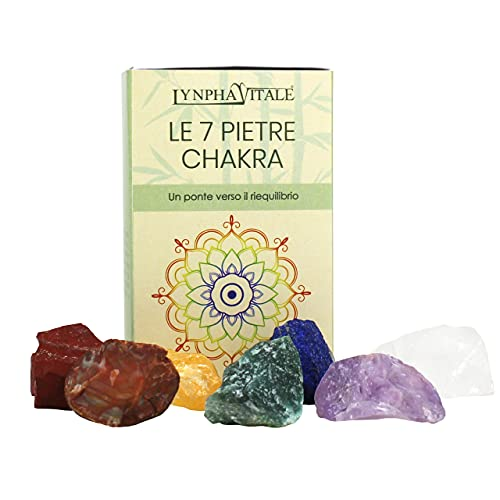 Pietre dei 7 Chakra – Pietre Chakra e Cristalli naturali per Cristalloterapia - Pietre curative ed energetiche - Pietre Grezze - Riequilibrare i Chakra