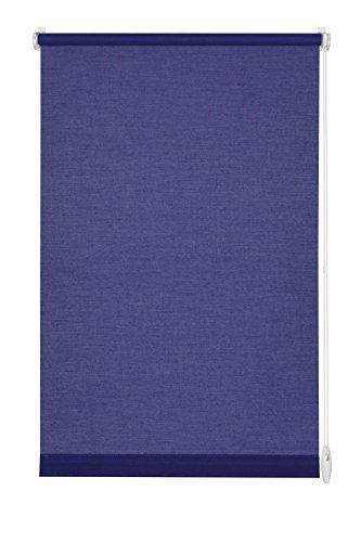 GARDINIA Tenda a rullo con morsetto di fissaggio o adesiva, Per luce diurna, Opaca, Kit di montaggio incluso, EASYFIX Tenda a rullo avvolgibile, Blu scuro, 45 x 150 cm (LxA)
