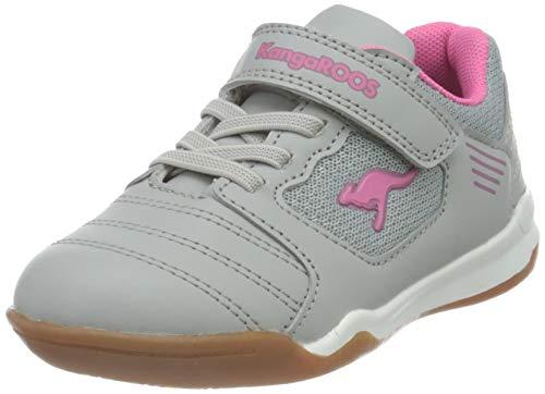 KangaROOS Miyard EV Sneaker, Vapor Grey/Fandango Pink 2069, 34 EU
