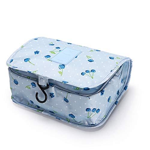 Gros Cubes d'emballage Mode étanche Voyage Capacité Sac de Rangement Crochet Portable Trousse de Toilette cosmétiques Accessoires de Mode Voyage (Color : BlueCherry)