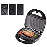 AMYZ Waffle Maker 3 in 1,Sandwich Toaster,Press Grill,Donut Doughnut Maker Iron Machine,Deep Non-Stick Coating Plates,750W,Automatic Temperature Control