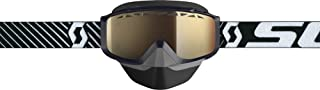 Scott Split Otg Adult Snowmobile Goggles - Black/Bronze Chrome/One Size