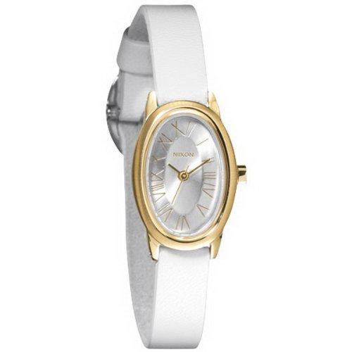 Nixon A247504-00 - Reloj analógico de Cuarzo para Mujer con Correa de Piel, Color Blanco