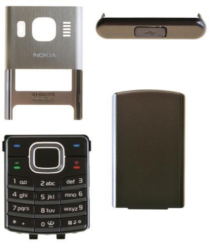 MobileX clusive Nokia 6500Classic Brown Bronze Cover, esterno, guscio rigida + tastiera completo 4pezzi