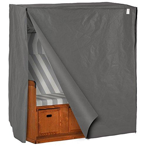 TecTake Robuste Wetterschutzhülle für Strandkorb 120 x 80 x 145 cm